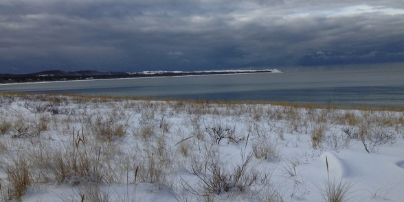 Holiday Happiness is Snow at Sleeping Bear Dunes National Lakeshore.